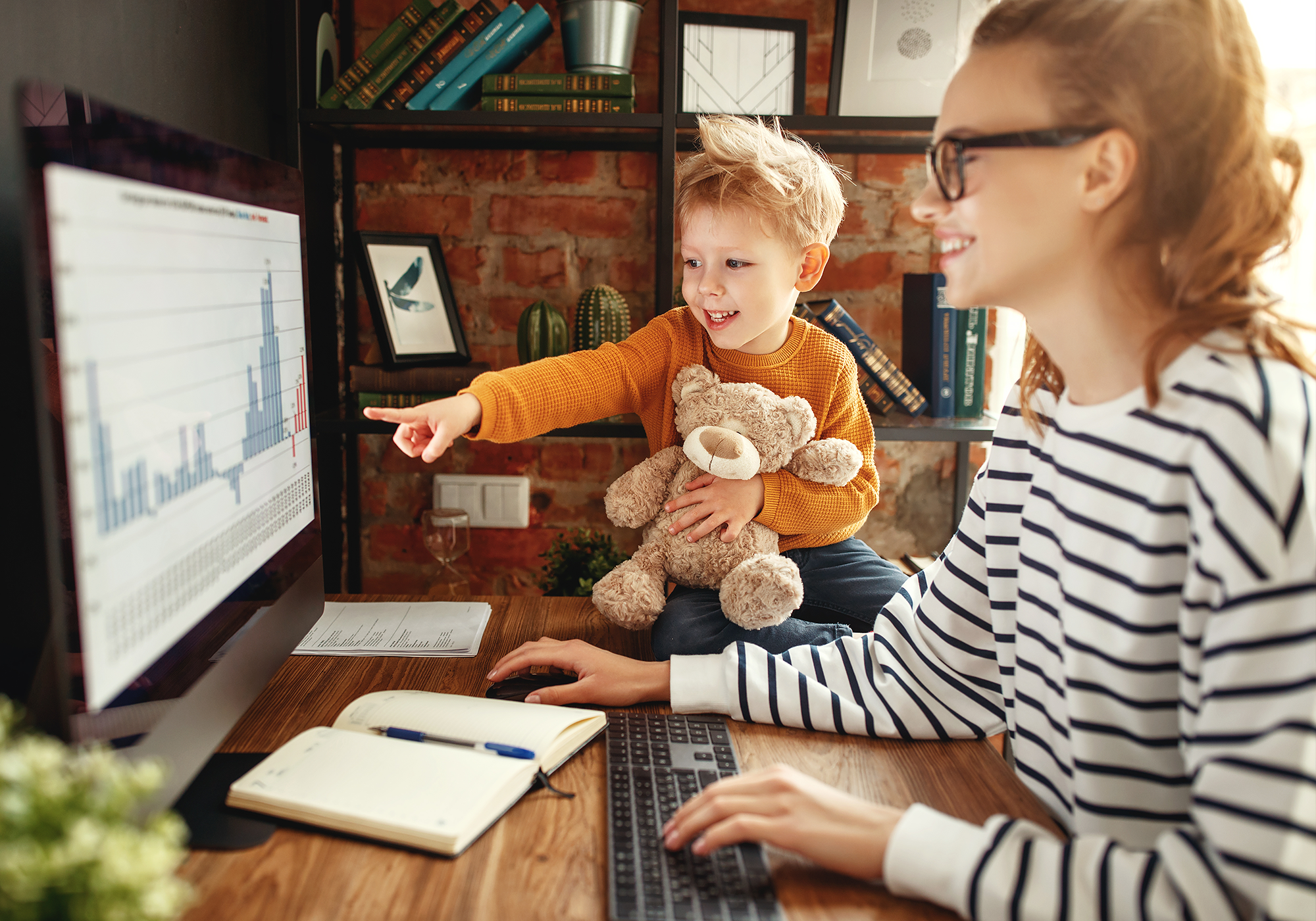 remote work from home moms