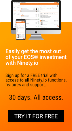 Sign up for a free trial with access to all Ninety.io functions, features, and support. 30 days. All access.